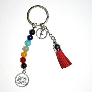 Jewelry - Chakra Lotus Yoga Tassel Keychain NEW